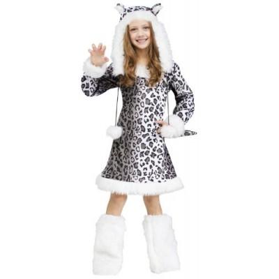 Snow Leopard Child Costume, Medium (8-10)