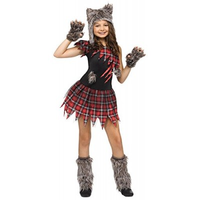 Wild Wolfie Girl Kids Costume