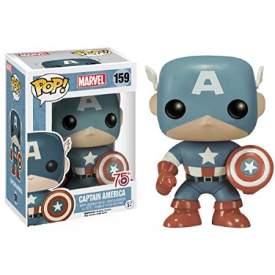 Funko POP Marvel: Captain America Sepia Tone 75th Anniversary Amazon Exclusive Action Figure