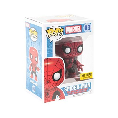 Funko Pop! Marvel Spider-Man #3 Hot Topic Exclusive Red/Black Vinyl Figure