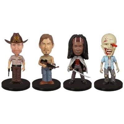 Funko The Walking Dead Mini Wacky Wobbler Set (4-Piece)