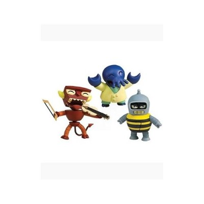 Futurama: Tineez Series 1 Version 2 3 inch Musical Robot Devil - Alternate Universe Zoidberg - Bumblebee Bender Action F