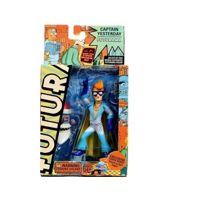 Futurama Toynami Series 4 Action Figure Fry as Captain Yesterday