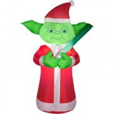 5 Feet Tall Star Wars YODA Christmas Airblown Inflatable Air Blown