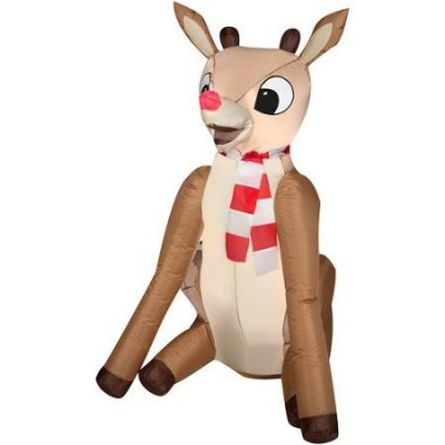 Airblown Rudolph the Red Nosed Reindeer Inflatable Lawn Christmas Decoration 4'