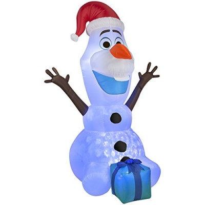 Christmas Inflatable Airblown 6ft Lighted Olaf Kaliedoscope Holiday Indoor/Outdoor Decoration