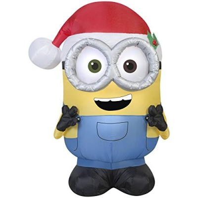 Gemmy Christmas Inflatable Minion Bob, 3.5 Feet