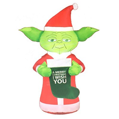 Star Wars 5ft Yoda Christmas Airblown Inflatable with LED Lights