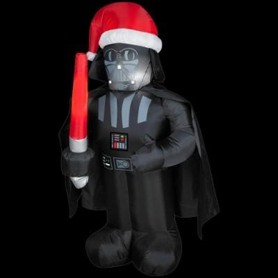 Star Wars Darth Vader Lighted Airblown Inflatable Christmas Santa