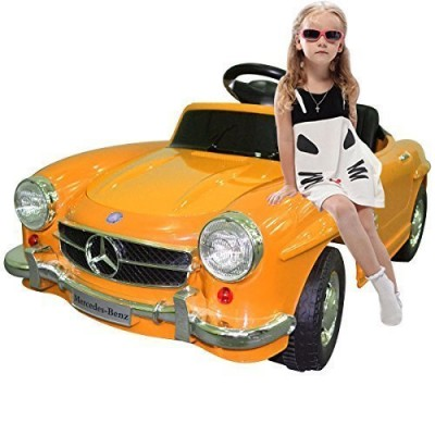 Yellow Mercedes Benz 300sl Amg Rc Electric Toy Kids Baby Ride on Car