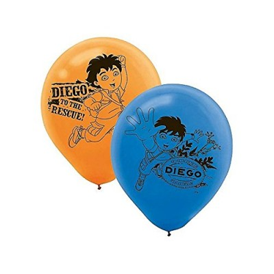 Go Diego Go! Printed Latex Balloons- Assorted Colors