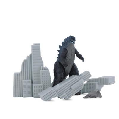 Godzilla Movie Pack of Destruction with Godzilla, Destructible Building, and Aircraft