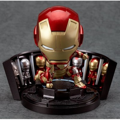 Nendoroid Iron Man 3 Iron Man Mark 42 Heroes Edition + Hall of Armor Sets (Non-scale ABS & PVC Painted Action Figure)