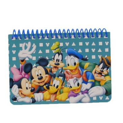 Disney Mickey Mouse and Friends Spiral Autograph Book - Teal