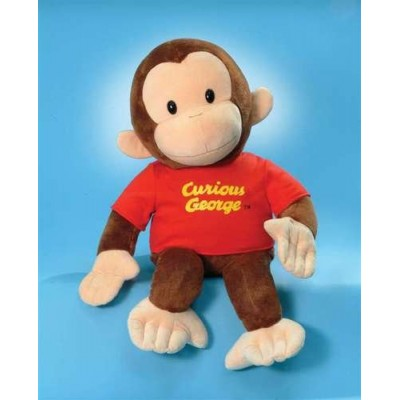"""Classic Curious George in Red Shirt 8"""" by Gund"""