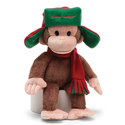 Gund Curious George Fargo Hat Stuffed Animal