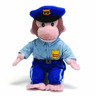 Gund Curious George Policeman Stuffed Animal