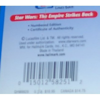 HALLMARK STAR WARS THE EMPIRE STRIKES BACK MINI LUNCHBOX LIMITED EDITION WITH CERTIFICATE OF AUTHENTICITY QHM8820