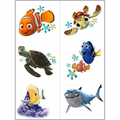 Disney Nemo's Coral Reef Tattoo (2 sheets) Party Accessory