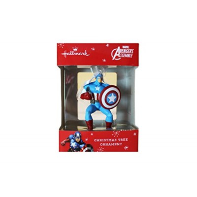 Hallmark Marvel Avengers Assemble Captain America Christmas Tree Ornament