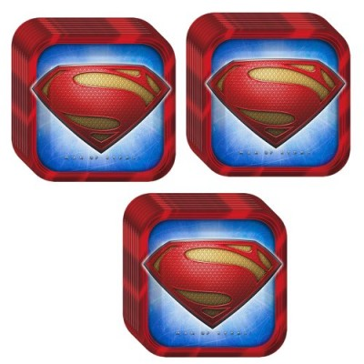 Man of Steel Superman Dinner Plates - 24 Pieces