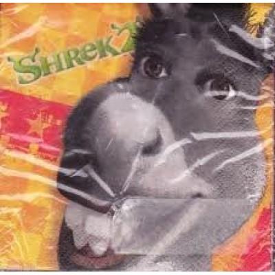 Shrek 2 Party Beverage Napkins - Donkey