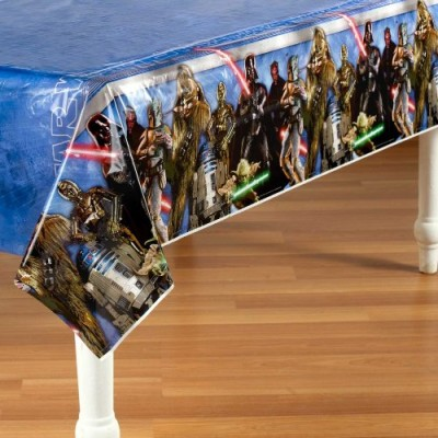 Star Wars Party Table Cover - Star Wars Plastic Tablecover
