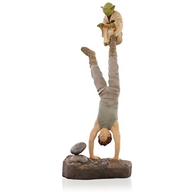 Star Wars : The Empire Strikes Back - There Is No Try Yoda and Luke Skywalker Ornament 2015 Hallmark