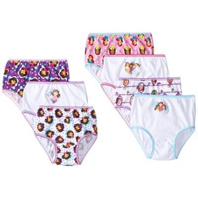 Handcraft Little Girls'  Nick Dora and Friends  Underwear (Pack of 7), Multi, 2T/3T