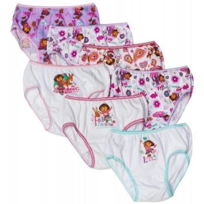 Nickelodeon Little Girls'  Dora the Explorer  Underwear (Pack of 7), Multi, 4