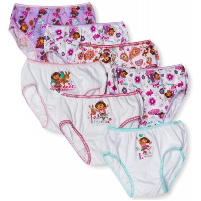 Nickelodeon Little Girls'  Dora the Explorer  Underwear (Pack of 7), Multi, 4