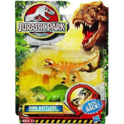 1 X Jurassic Park Dino Battlers - Spinosaurus vs. Velociraptor