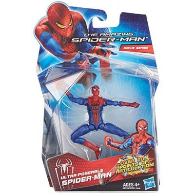 Amazing SpiderMan Movie 3.75 Inch Action Figure Ultra Poseable SpiderMan Over 20 Points of Articulation!