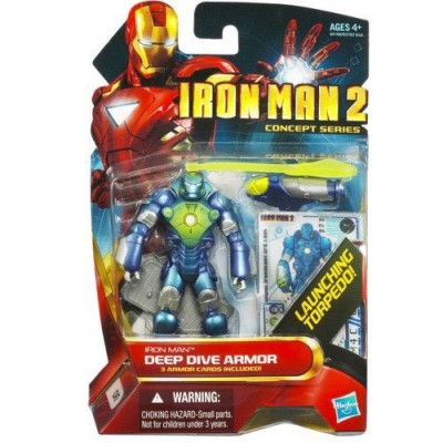 Iron Man 2 Movie Concept Series 4 Inch Action Figure Iron Man Deep Dive Armor by HASBRO