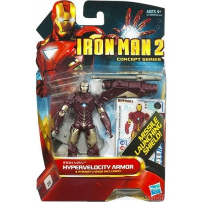 Iron Man 2 Movie Concept Series 4 Inch Action Figure Iron Man Hypervelocity Armor