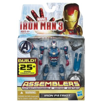 Marvel Iron Man 3 Avengers Initiative Assemblers Interchangeable Armor System Iron Patriot Figure