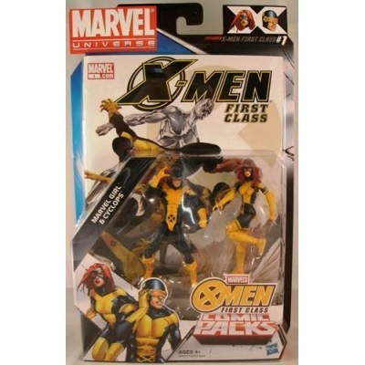 Marvel Universe, Exclusive X-Men First Class Action Figure Comic Pack, Marvel Girl & Cyclops, 3.75 Inches