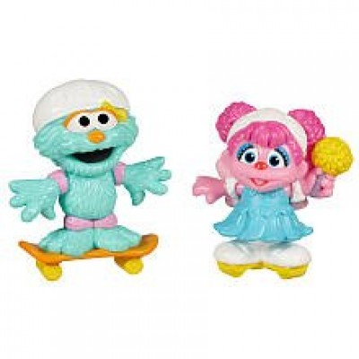 PLAYSKOOL Sesame Street Abby Cadabby & Rosita Skating Friends Figures by Hasbro