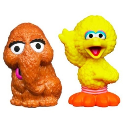 Sesame Street Figures Big Bird and Snuffleupagus, 2-pack
