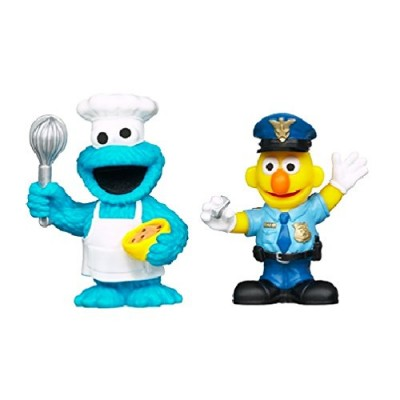 Sesame Street Friends at Work Cookie Monster & Bert Figures