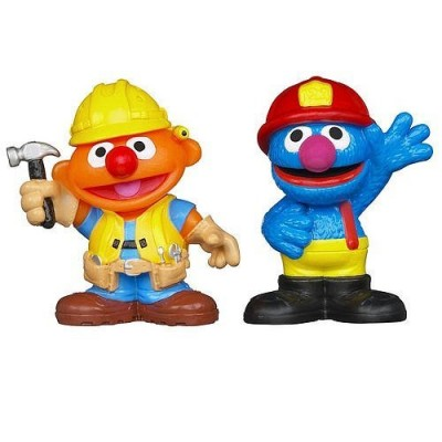 Sesame Street Friends at Work Ernie & Grover Figures