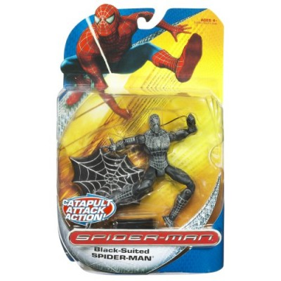 Spiderman Classic Trilogy Heroes Action Figures - Black Suited Spiderman 2
