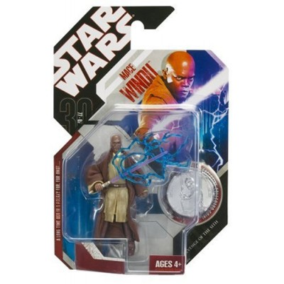 "STAR WARS 3.75"" BASIC FIGURE MACE WINDU"