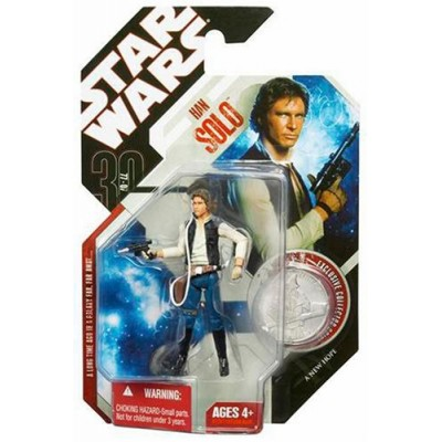 "Star Wars 30th Anniversary 3.75"" HAN SOLO Basic figure with Coin #11"
