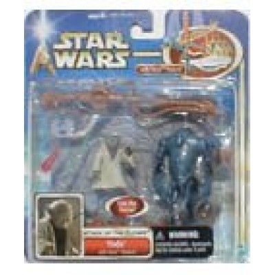 Star Wars Attack of the Clones Yoda Figure W/force Powers