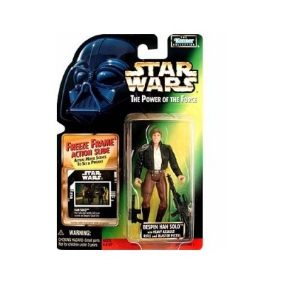 """Star Wars Classic Trilogy 4"""" Basic Figure: Bespin Han Solo with Heavy Assault Rifle"""
