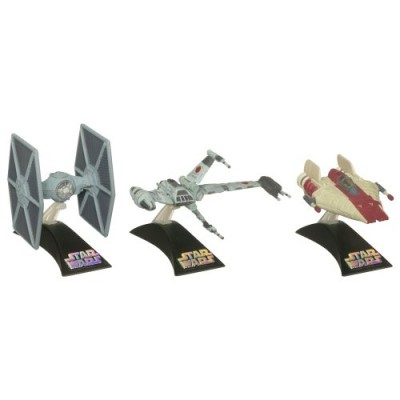 Star Wars Die Cast Titanium Vehicle - Episode VI A-WING/B-WING/TIE FIGHTER