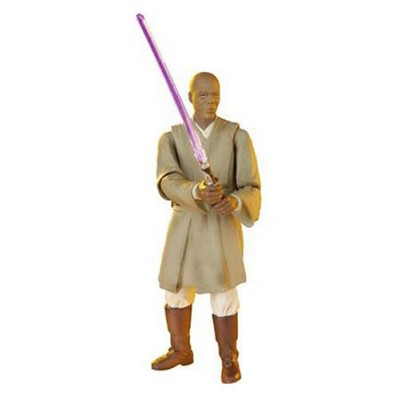 Star Wars Episode III 3 Revenge of the Sith MACE WINDU Force Combat Action Figure #10