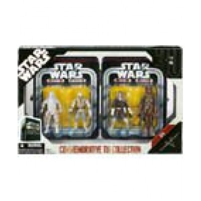 Star Wars Episode V 5 Collectible Tin Action Figure Set THE EMPIRE STRIKES BACK with 4 Action Figures: Snowtrooper, Luke Hoth, Han Hoth & Chewbacca...