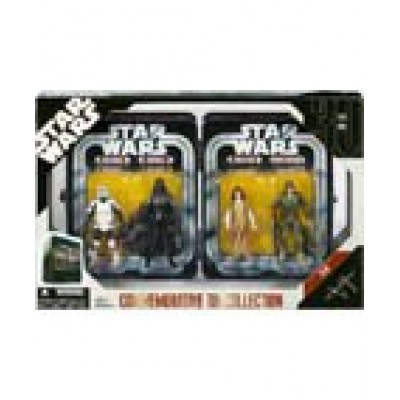 Star Wars Episode VI 6 Collectible Tin Action Figure Set RETURN OF THE JEDI with 4 Action Figures: Biker Scout Trooper, Darth Vader, Princess Leia ...